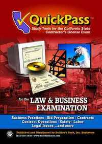 QuickPass Study Guide for the Law & Business Examination - CD-ROM by Inc  Builders Book on Builders Booksource
