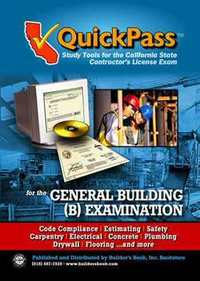 QuickPass Study Guide for the General Building (B) License Examination - CD-ROM. Inc Builders Book.