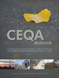 CEQA Deskbook, 3rd Edition. Kenneth Bogdan Ronald Bass, Terry Rivasplata.