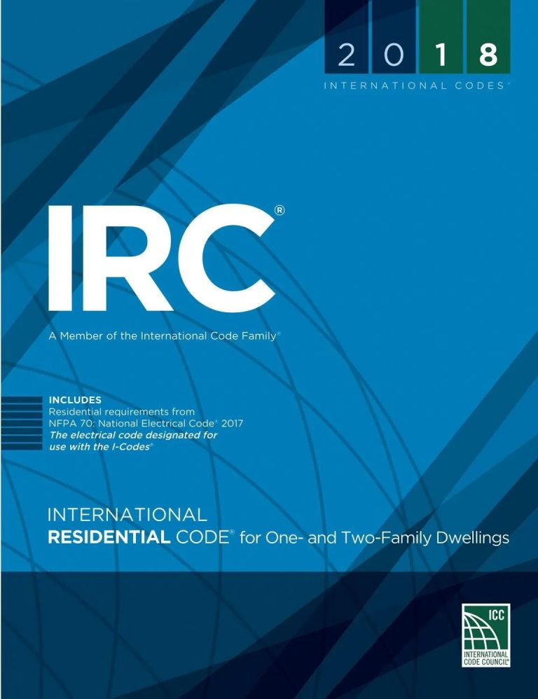 2018 International Residential Code Softcover (IRC 18). 3100S18.
