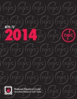 National Electrical Code, 2014 (NEC) Softcover Edition. NFPA.