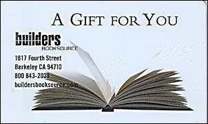 Gift Certificate: Twenty Five Dollars. Builders Booksource