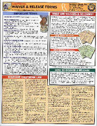 Quick Card: California Waiver & Release Froms. Builder's Book Inc