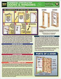 Quick Card:Residential Construction: Doors & Windows. Inc Builder's Book