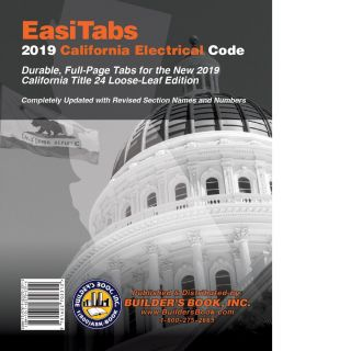 EasiTabs: 2019 California Electrical Code Title 24, Part 3. BUILDER'S BOOK