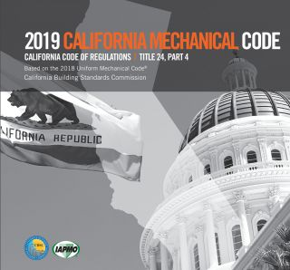2019 California Mechanical Code, Title 24 Part 4. CBSC-IAPMO